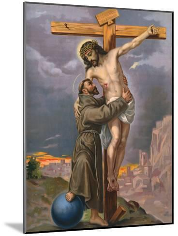 Francis and Jesus--Mounted Giclee Print