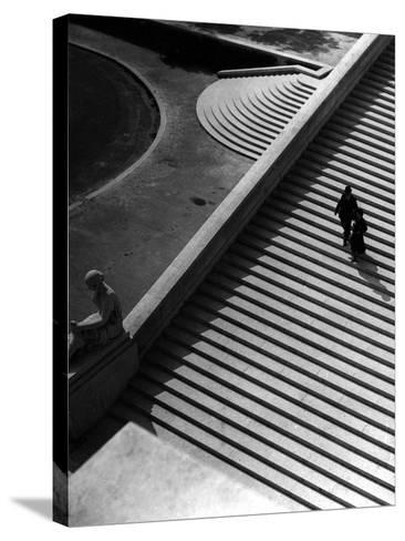 Steps of the Trocadero--Stretched Canvas Print
