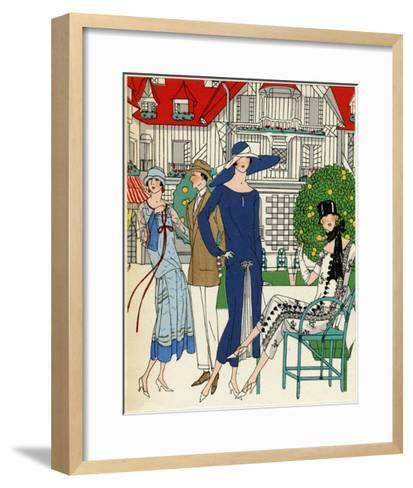 Three Ladies in Outfits by Jeanne Lanvin--Framed Art Print