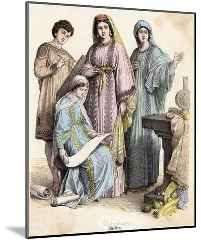 Dress, Early Christians--Mounted Giclee Print