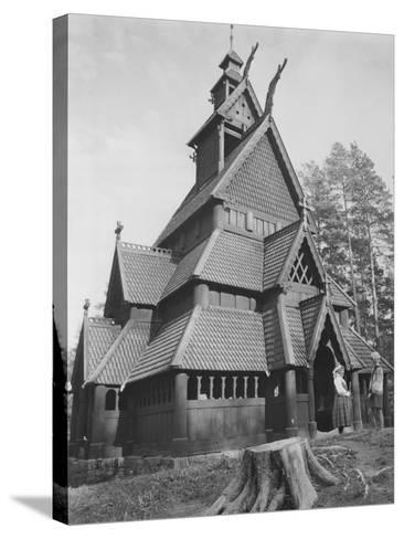Norwegian Church--Stretched Canvas Print