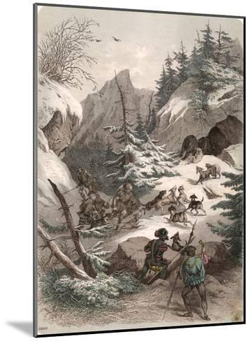 Bear Hunt Medieval--Mounted Giclee Print
