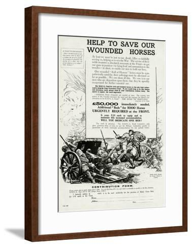 Help to Save Our Wounded Horses 1917--Framed Art Print