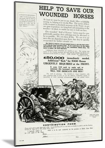 Help to Save Our Wounded Horses 1917--Mounted Giclee Print