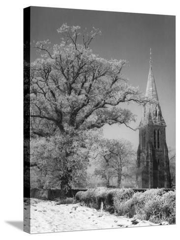 Little Brington Winter--Stretched Canvas Print