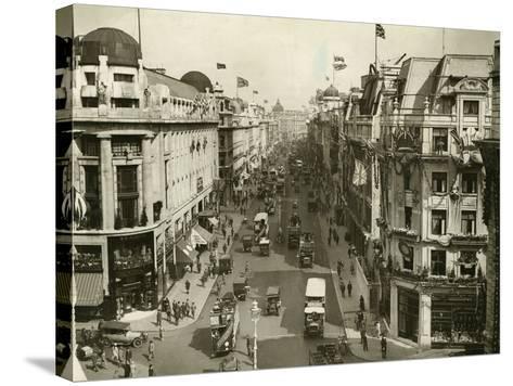 Regent Street 1927--Stretched Canvas Print