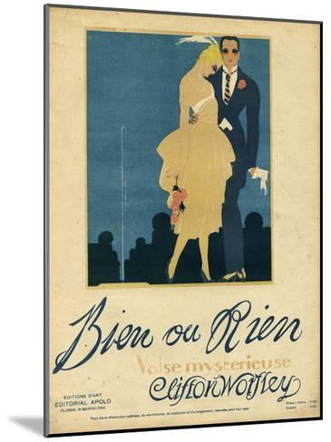 Couple, Music Sheet 1920--Mounted Giclee Print