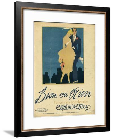 Couple, Music Sheet 1920--Framed Art Print