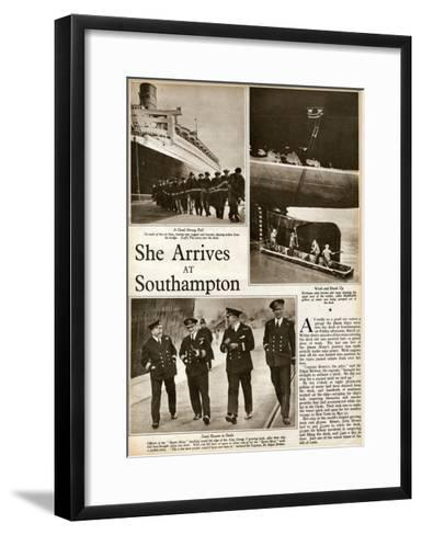 Queen Mary' Ocean Liner, at Southampton--Framed Art Print
