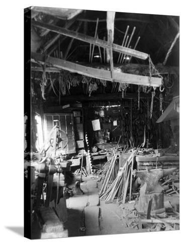Old Smithy Interior--Stretched Canvas Print