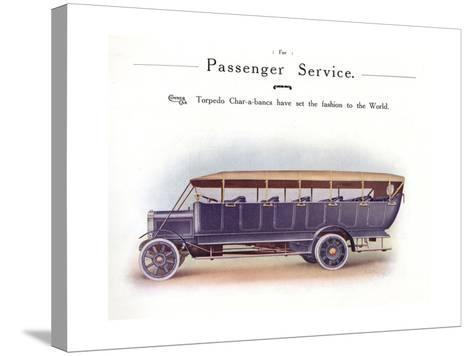 Commer Charabanc--Stretched Canvas Print