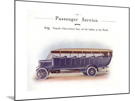 Commer Charabanc--Mounted Giclee Print