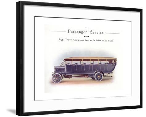 Commer Charabanc--Framed Art Print