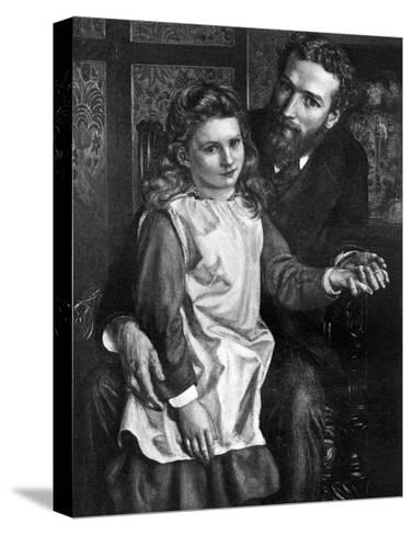 Gertrude Bell with Her Father, Sir Hugh Bell--Stretched Canvas Print