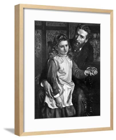 Gertrude Bell with Her Father, Sir Hugh Bell--Framed Art Print
