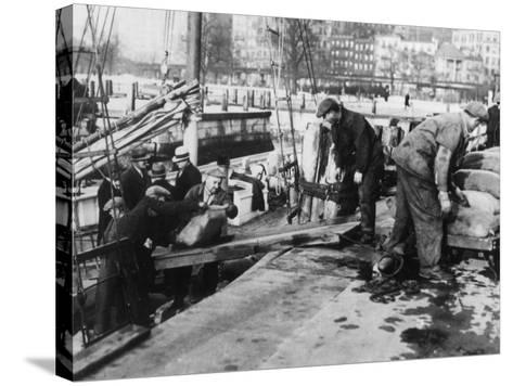 Prohibition Raid--Stretched Canvas Print