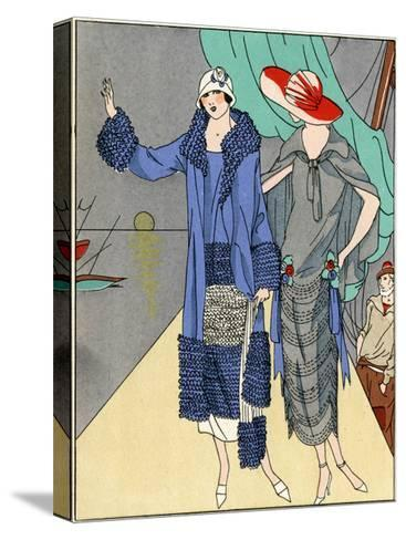 Two Ladies in Outfits by Philippe Et Gaston and Beer--Stretched Canvas Print