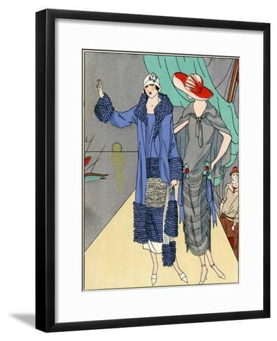 Two Ladies in Outfits by Philippe Et Gaston and Beer--Framed Art Print