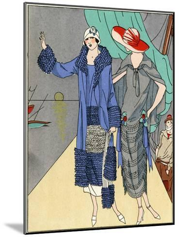 Two Ladies in Outfits by Philippe Et Gaston and Beer--Mounted Giclee Print