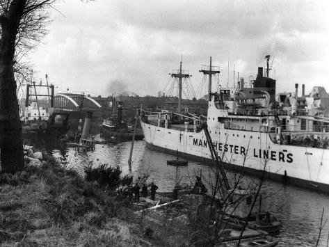 Manchester Ship Canal--Stretched Canvas Print