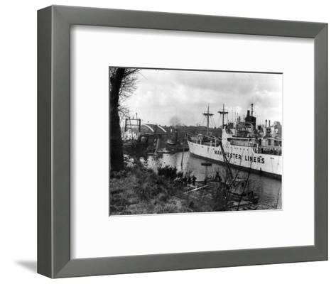 Manchester Ship Canal--Framed Art Print