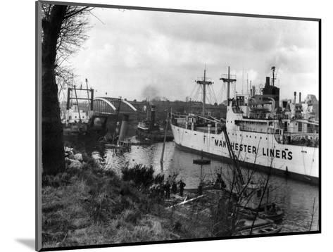 Manchester Ship Canal--Mounted Giclee Print