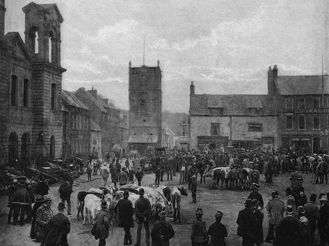 Morpeth, Northumberland--Stretched Canvas Print