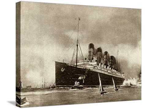 Cunard Liner Lusitania 1915--Stretched Canvas Print