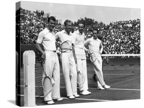 Davis Cup Players--Stretched Canvas Print