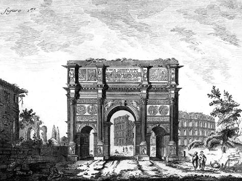 Arch of Constantine, Rome--Stretched Canvas Print