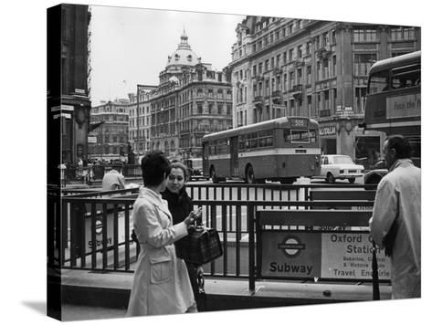 London, Oxford Circus--Stretched Canvas Print