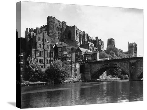 Durham Castle from Wear--Stretched Canvas Print