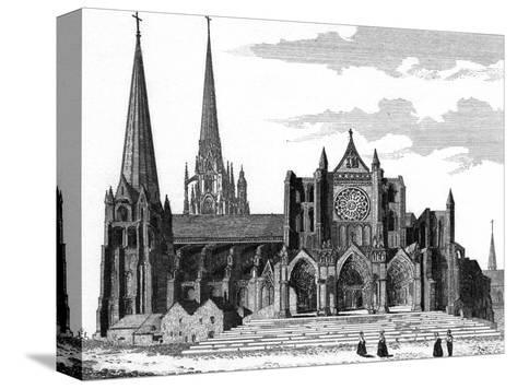 Chartres Cathedral--Stretched Canvas Print