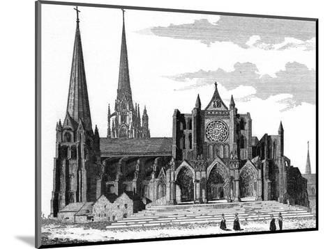 Chartres Cathedral--Mounted Giclee Print