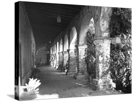 Mission Ruins--Stretched Canvas Print