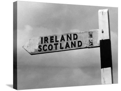 Scotland Ireland Sign--Stretched Canvas Print