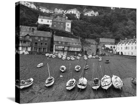 Clovelly Harbour--Stretched Canvas Print
