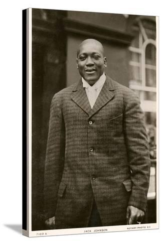 Jack Johnson Boxer--Stretched Canvas Print
