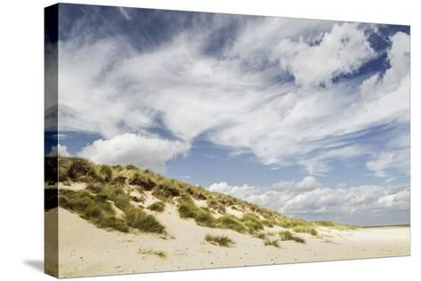 Empty Beach and Dunes with Big Cloudy Sky-Daniel Halpin Photography-Stretched Canvas Print