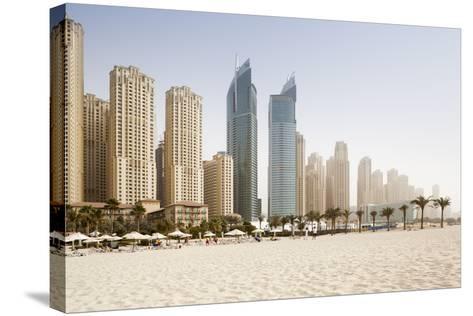 Jumeirah Beach at Sunset-Jorg Greuel-Stretched Canvas Print