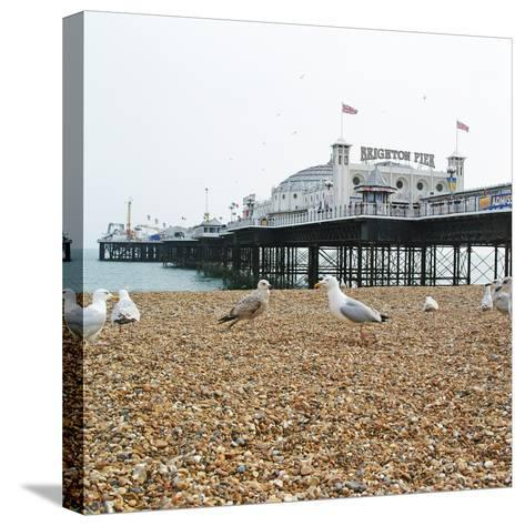 Brighton Pier-Richard Newstead-Stretched Canvas Print