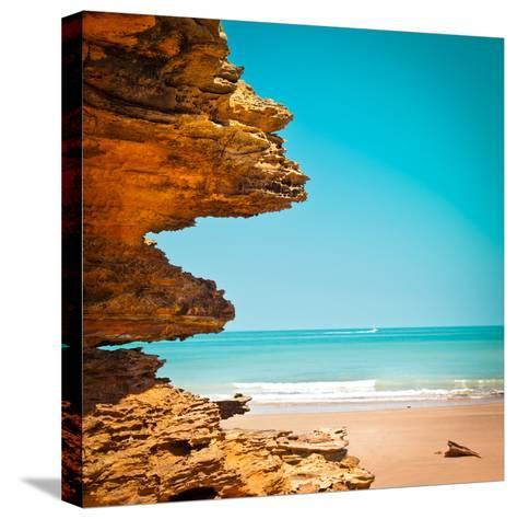 Surreal Rock Formation in Broome-Light Bulb Works-Stretched Canvas Print