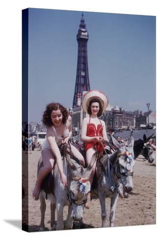Donkey Rides at Blackpool-John Chillingworth-Stretched Canvas Print