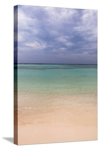 Scenic of Water and Beach, Baby Beach, Aruba, Lesser Antilles, Caribbean-Alberto Biscaro-Stretched Canvas Print