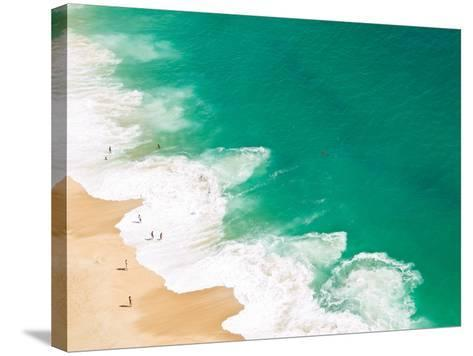 Aerial View of Beach-David Lopes-Stretched Canvas Print