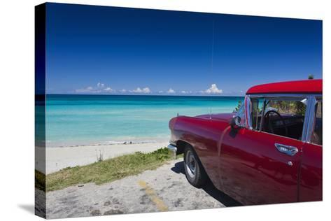Cuba, Matanzas Province, Varadero, Varadero Beach-Walter Bibikow-Stretched Canvas Print