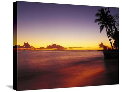 Sunset at Oahu-Brian Lawrence-Stretched Canvas Print