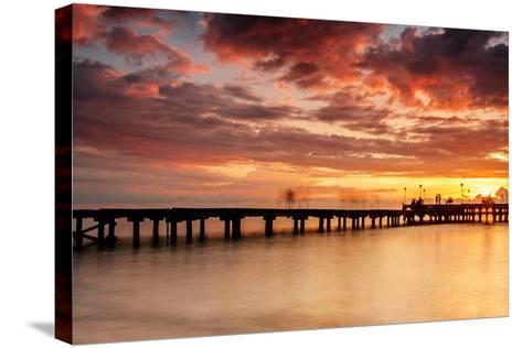 Sunset at Akkarena-Abdul Azis-Stretched Canvas Print