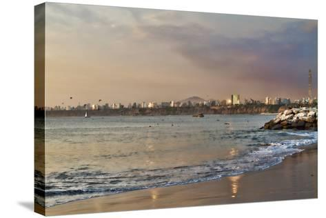 View of the Sea and the Coast, Lima, Peru-LatinContent - Ecaterina Leonte-Stretched Canvas Print