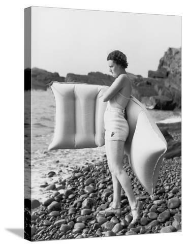 Hesitant Swimmer-Chaloner Woods-Stretched Canvas Print